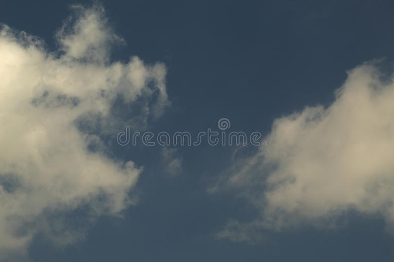 White cloud on blue sky. Nature for background stock photography