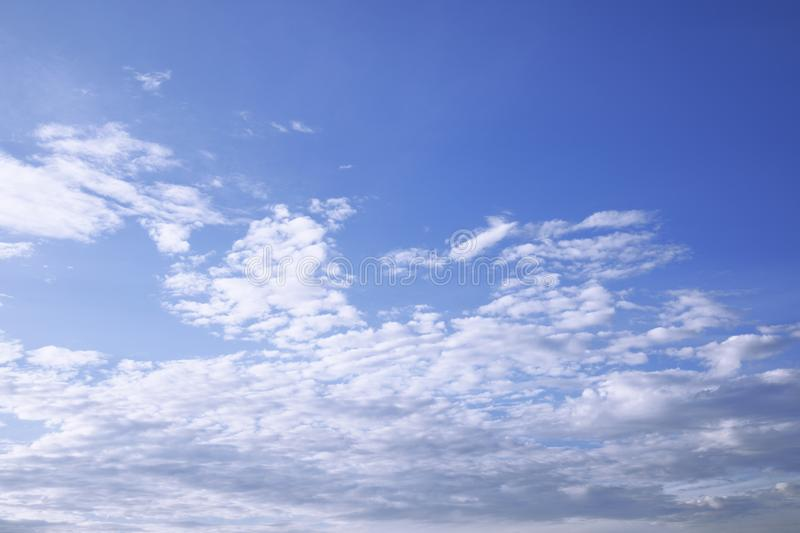 White cloud on blue sky weather background. White cloud on blue sky weather for background stock photo