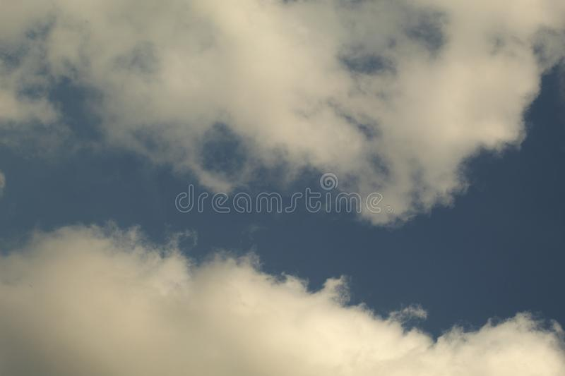White cloud on blue sky. Nature for background stock images