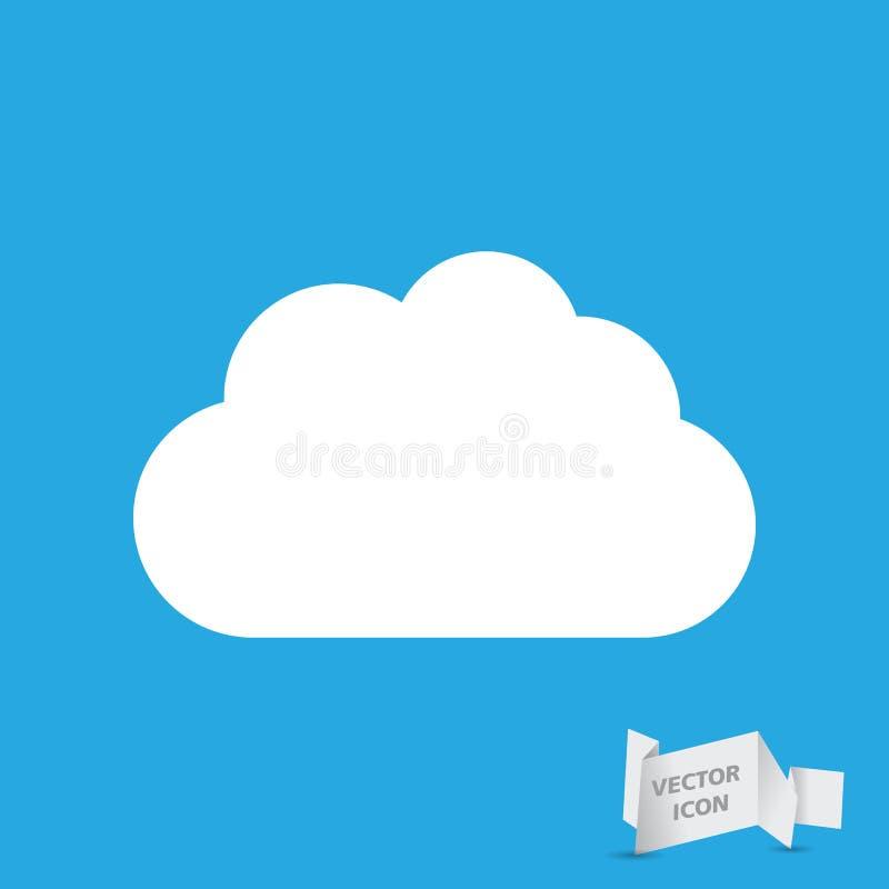 White cloud icon royalty free illustration