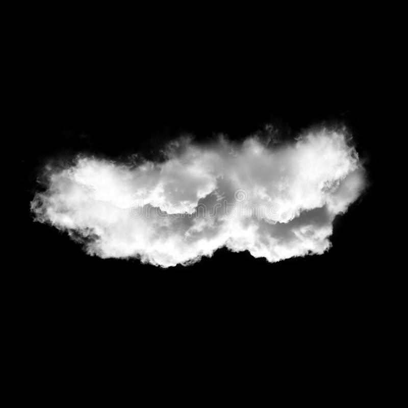White cloud isolated over black background, 3D illustration stock photos