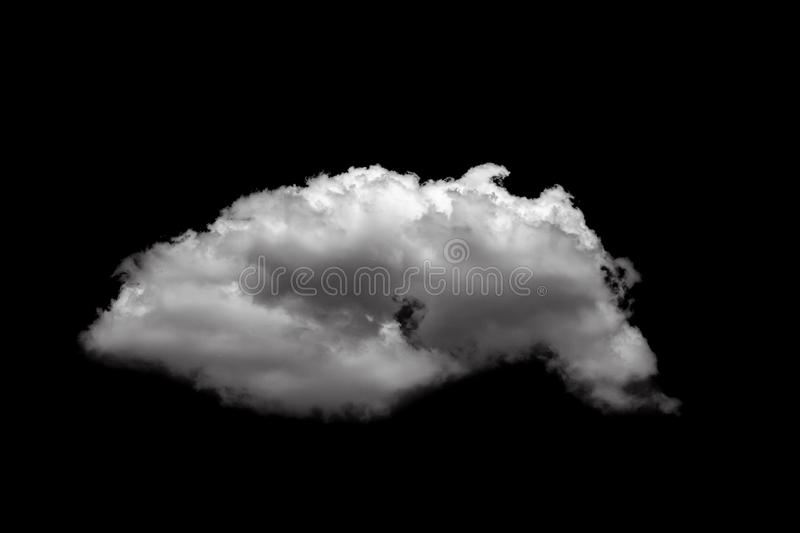 White cloud isolated over a black background realistic cloud royalty free stock photos