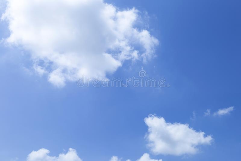 White cloud over blue sky, nature background. Summer and weather background royalty free stock photos