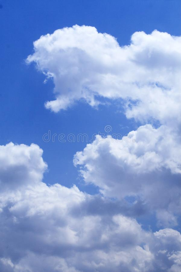 White cloud in the sky. royalty free stock photos