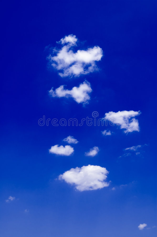 The white clouds. royalty free stock images