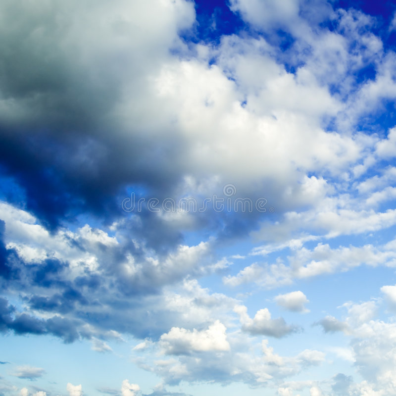 White clouds royalty free stock photography