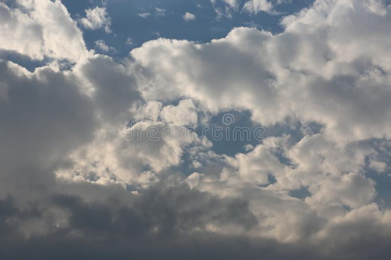 White clouds. stock photography