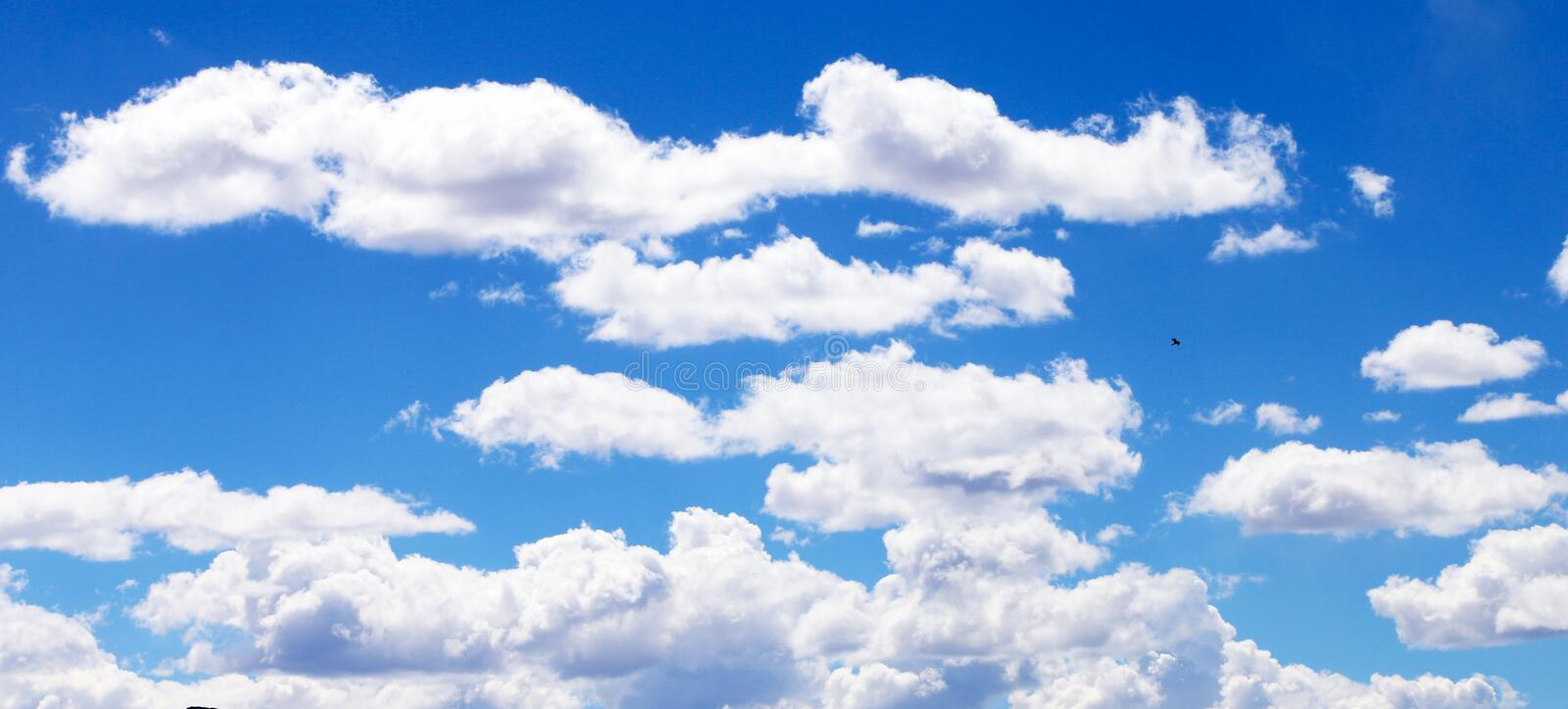 White Clouds and Blue Skies stock images