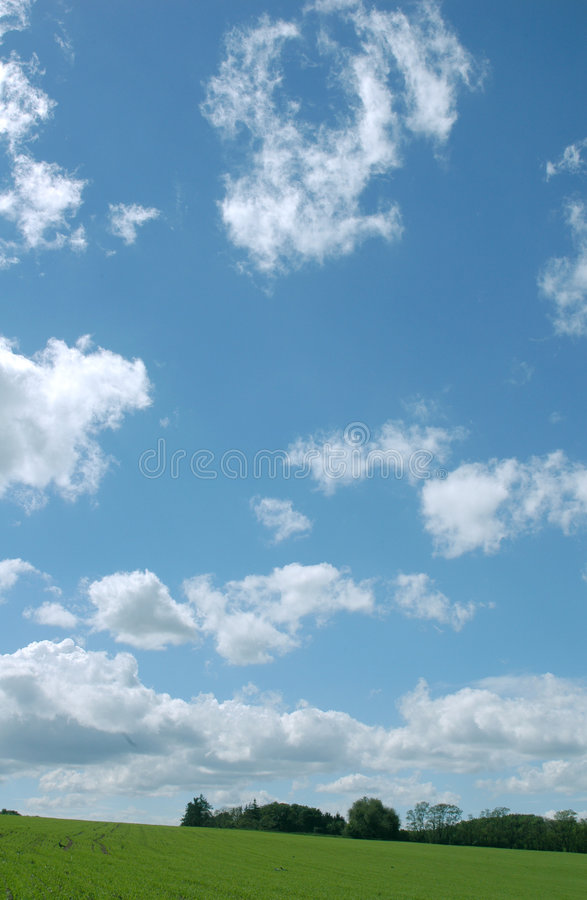 White Clouds at the Blue Sky stock photos