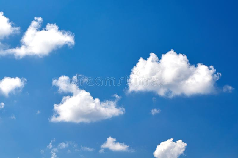 White clouds in the blue sky.  royalty free stock images