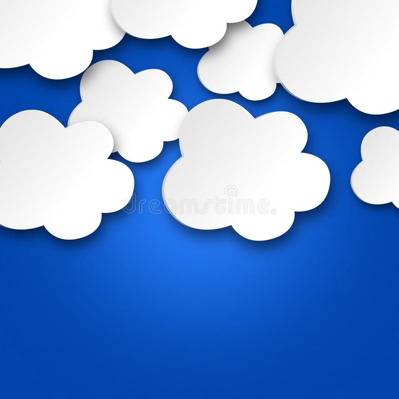 Download White clouds on blue sky stock illustration. Image of speech - 29561714