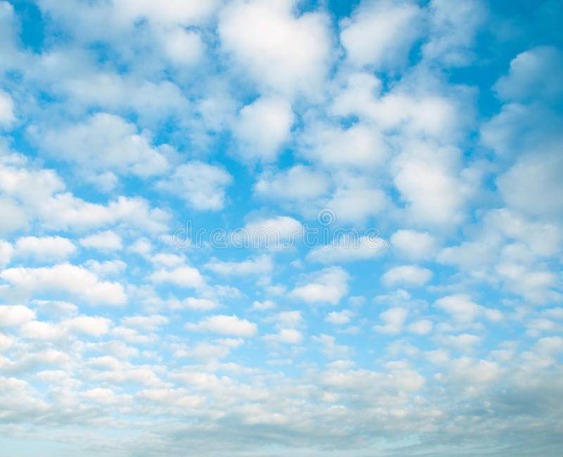 White clouds in a blue sky. royalty free stock photos