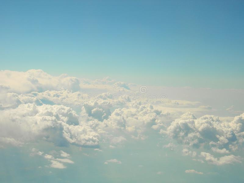 White clouds in a blue wonderful sky stock image