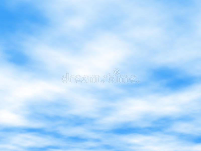 White clouds stock illustration