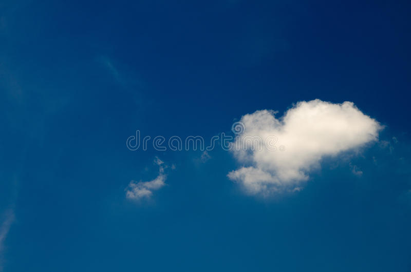 White clouds floating in the sky at daytime. Taken with CPL filters stock photo