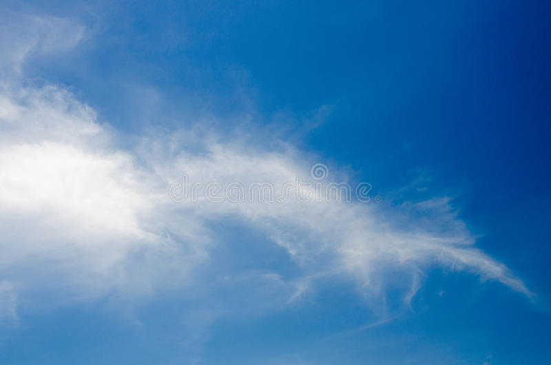 White clouds floating in the sky at daytime. Taken with CPL filters stock image