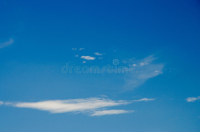 White clouds floating in the sky at daytime. Taken with CPL filters royalty free stock image