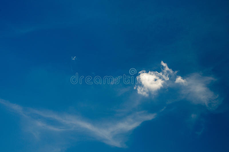 White clouds floating in the sky at daytime. Taken with CPL filters royalty free stock images