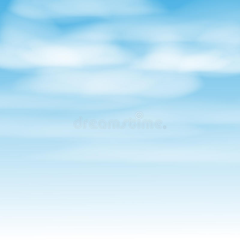 Download White clouds stock illustration. Illustration of blue - 41112859