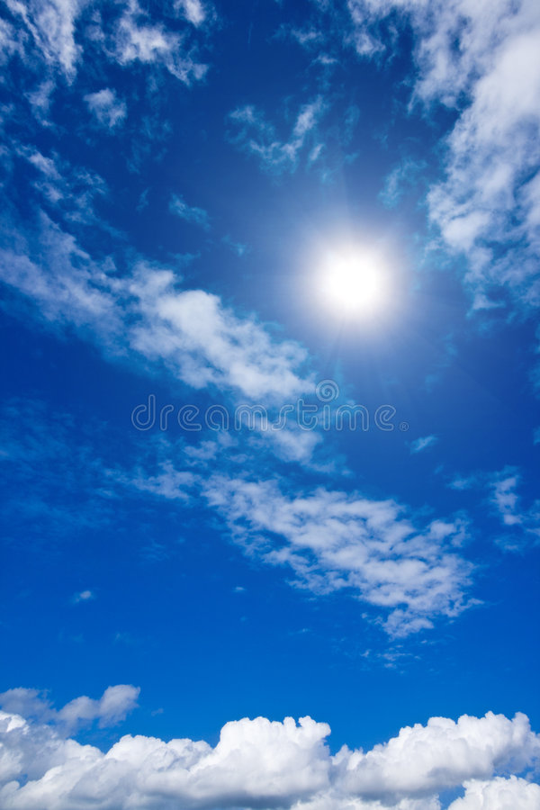 White clouds and sky in sky stock photography