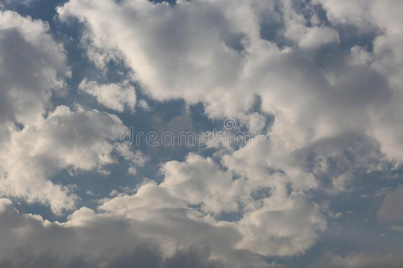 White clouds. royalty free stock photos
