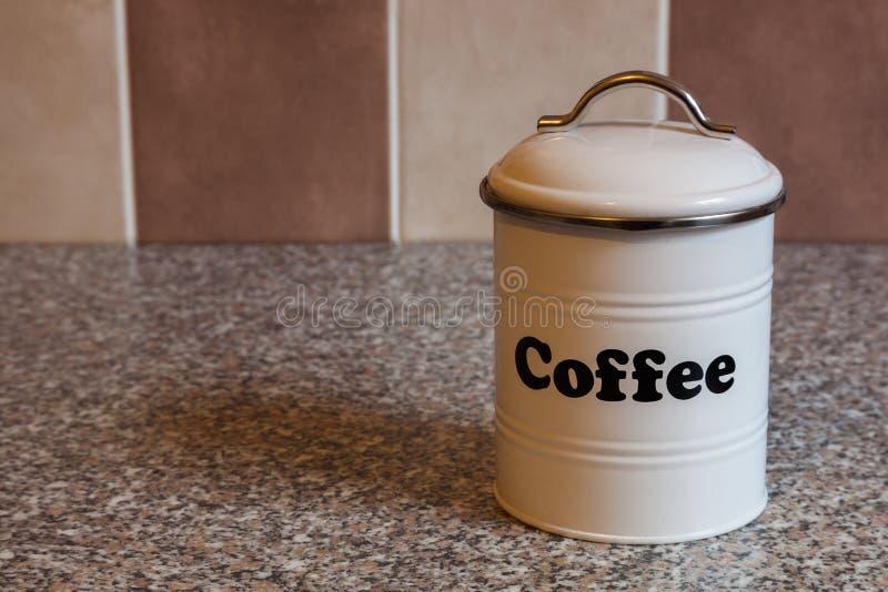 White coffee container stock photos