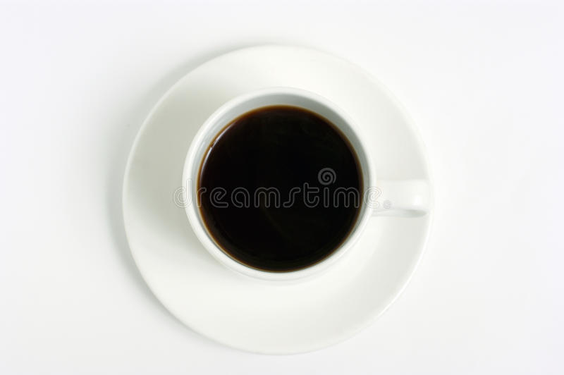 White coffee cup isolated on white. Backround royalty free stock photography