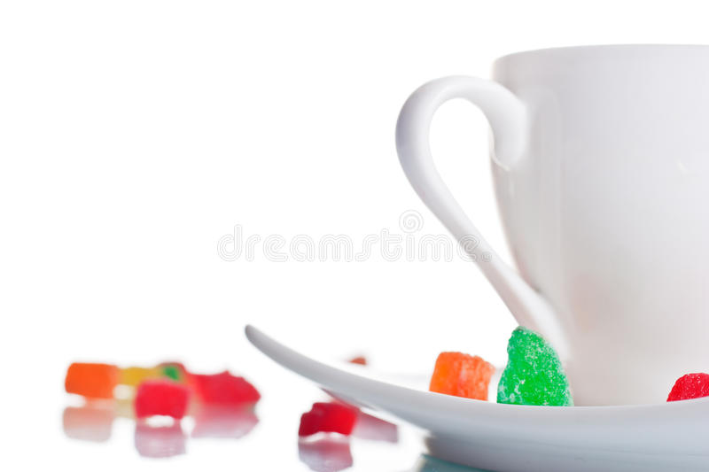 White Coffee Cup With Marshmallows Royalty Free Stock Photo