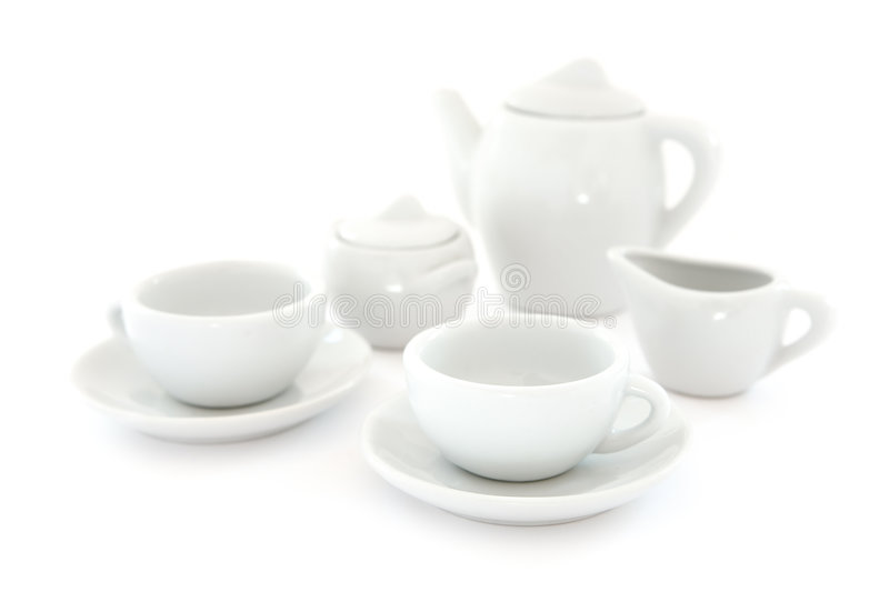 Download White Coffee Set stock image. Image of kitchenware, bowl - 4414871