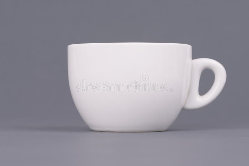 White Coffee Or Tea Cup On Grey Background. Design Template For Mock ...