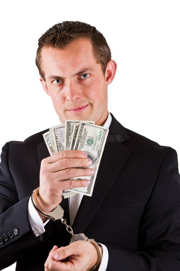 White collar corruption royalty free stock photo