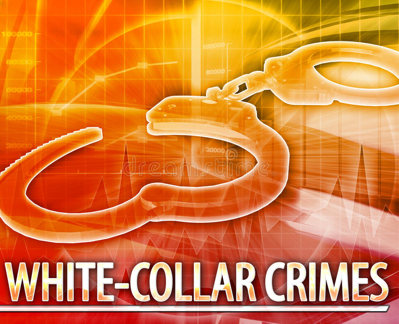 White-collar crime Abstract concept digital illustration royalty free illustration