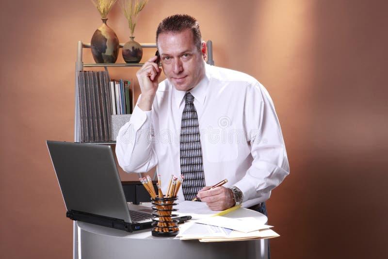 White collar workaholic royalty free stock photos