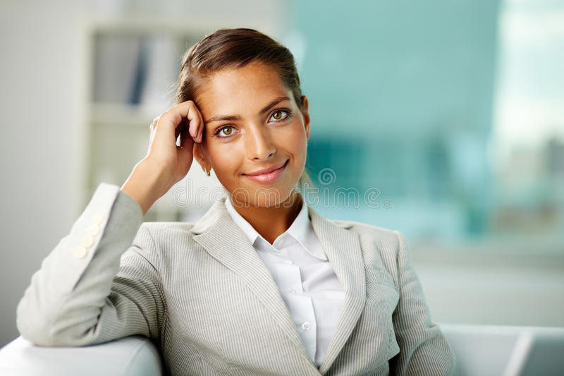 White collar worker. Portrait of successful white collar worker stock photos