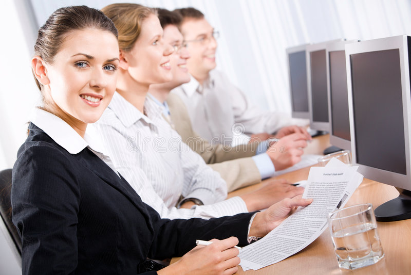 White collar worker stock photo