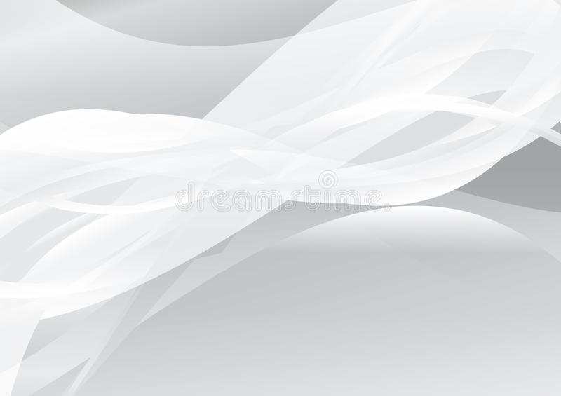 White color abstract wave background vector illustration.  royalty free illustration