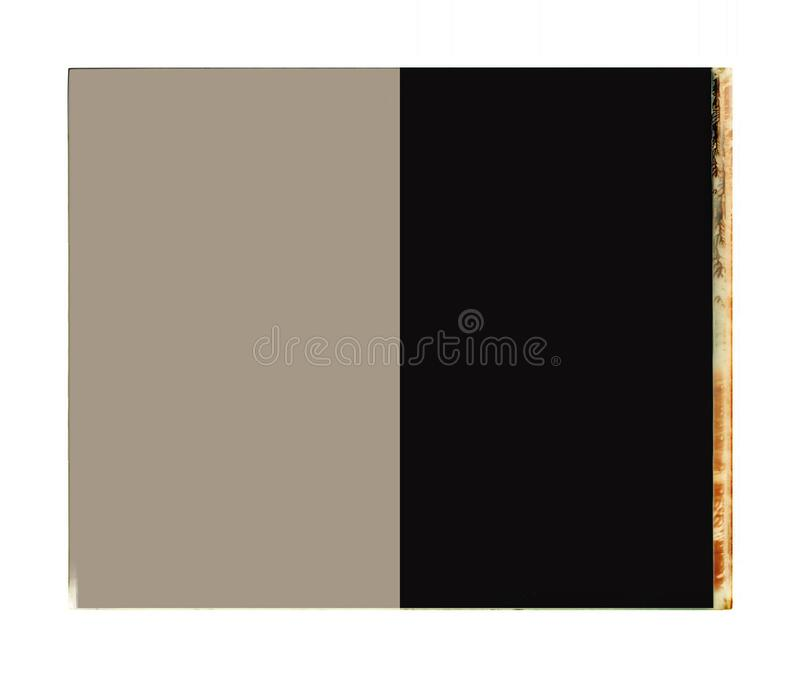 With the white color frame the two color dark grey and black royalty free stock photography