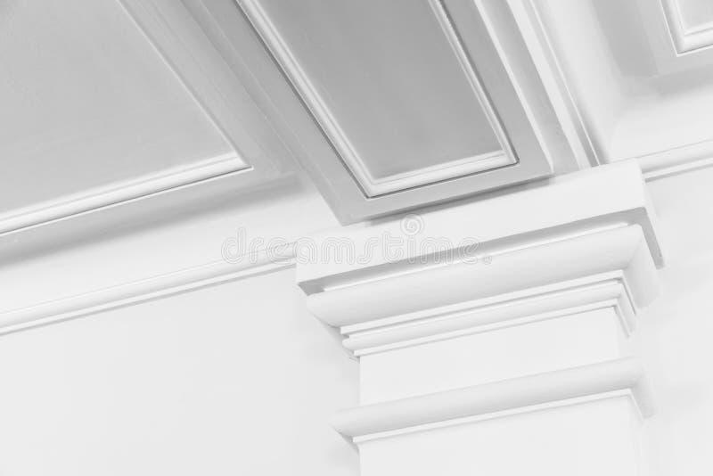 White column, portico decorative elements stock photo