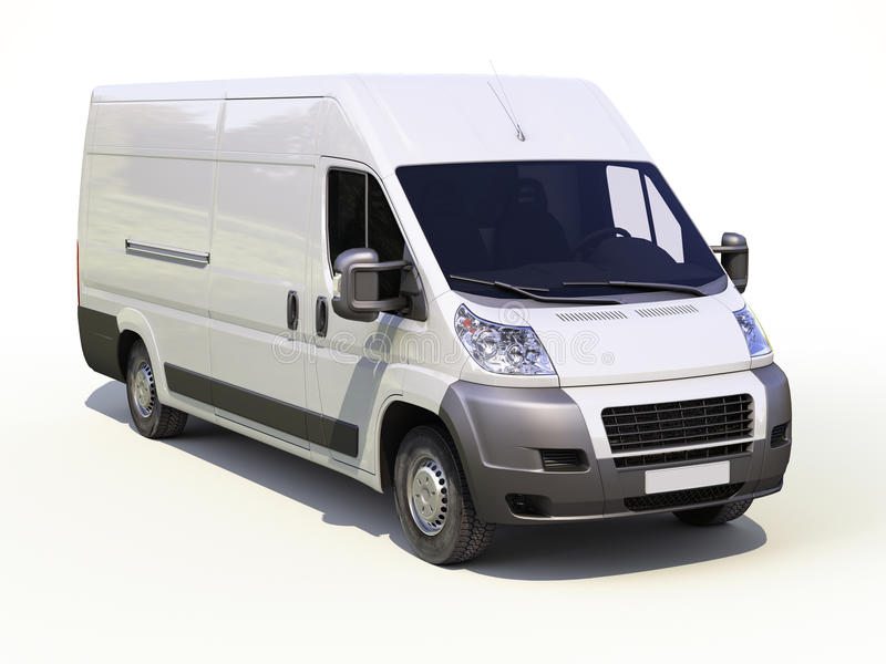 Download White Commercial Delivery Van Stock Photo - Image: 34047532
