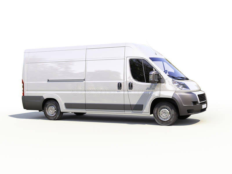 Download White Commercial Delivery Van Stock Photo - Image: 34047540