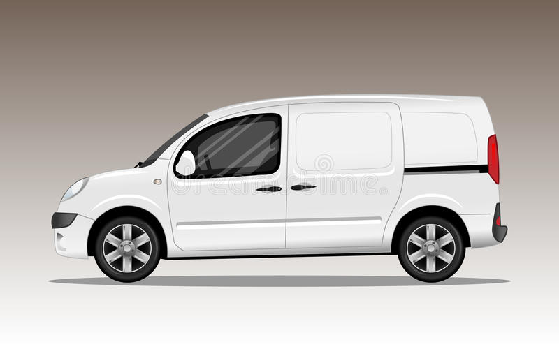 White commercial vehicle with alloy wheels royalty free illustration