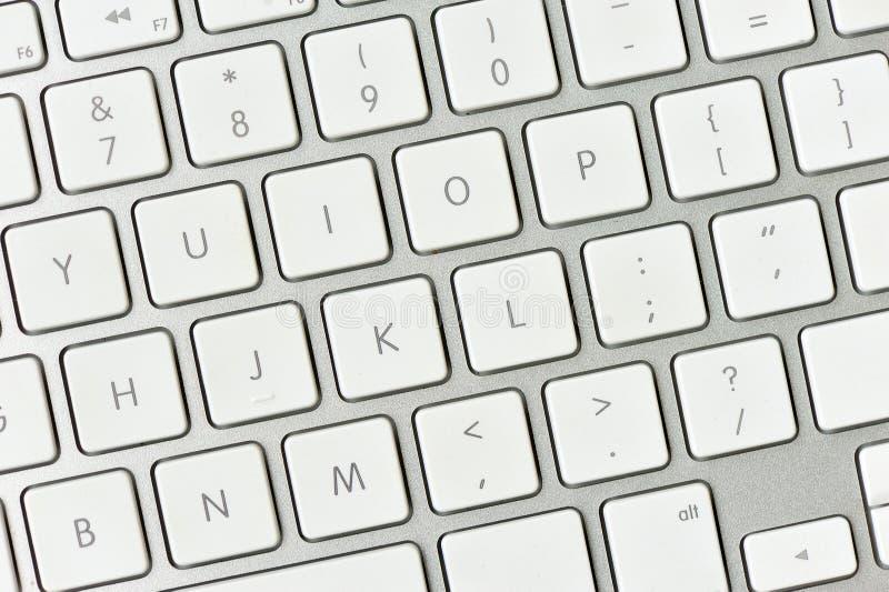 White computer keyboard royalty free stock photo
