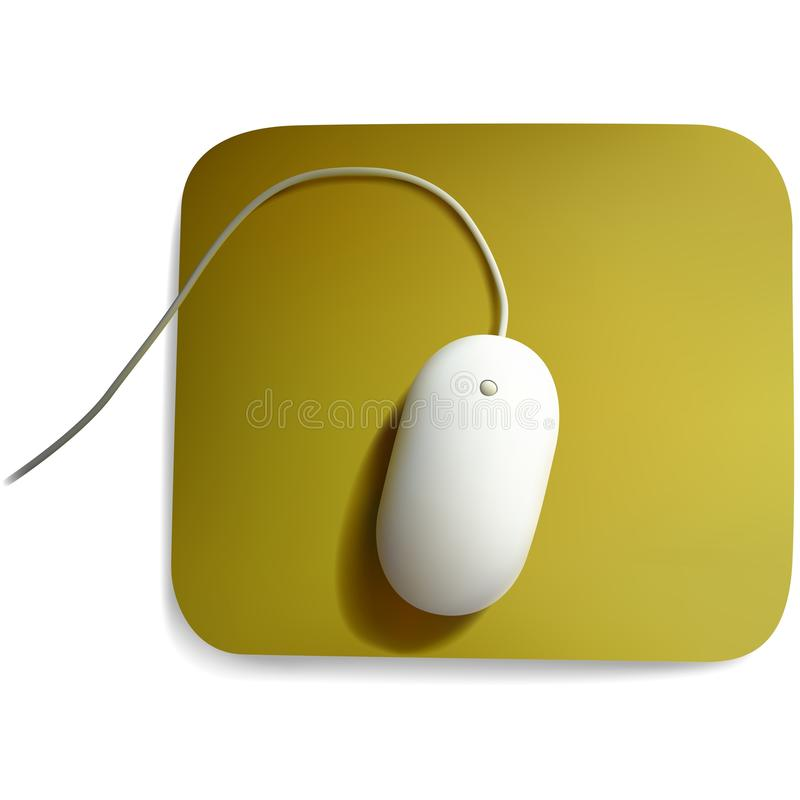 White Computer Mouse. Colored Illustration, Vector royalty free illustration