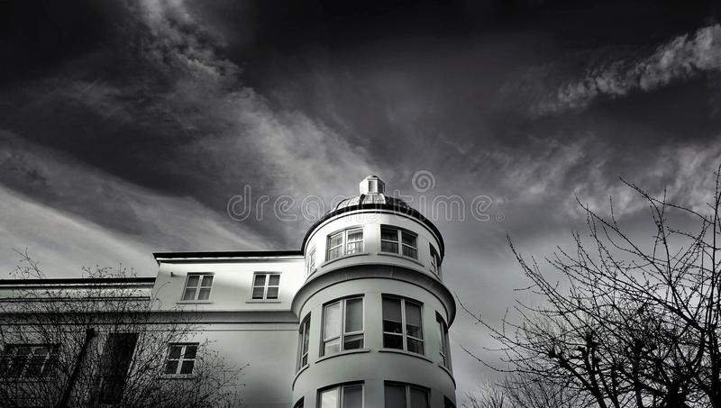White Concrete Building Photo royalty free stock image