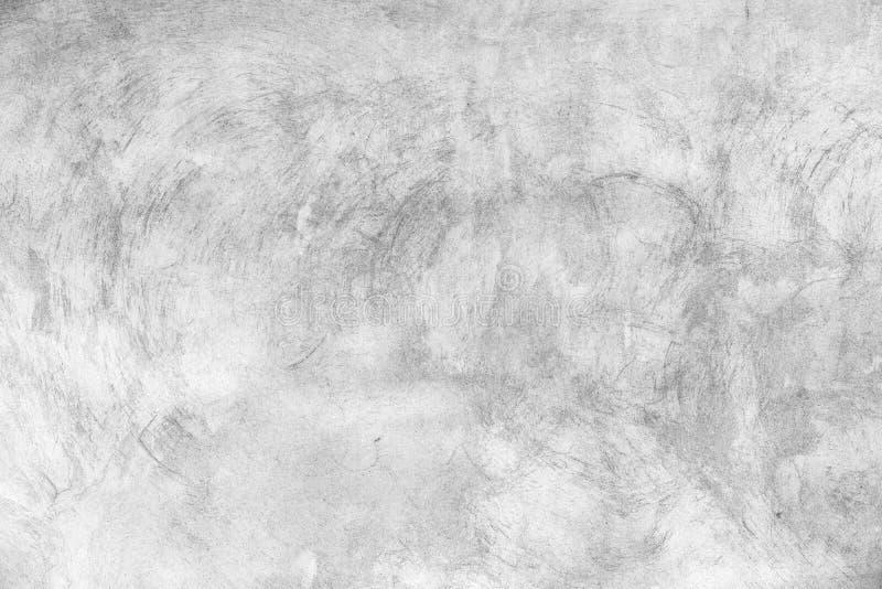 White concrete wall with brush strokes royalty free stock photos