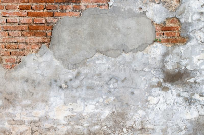 White concrete wall texture. Architecture backgrounds block built cement cinder color construction design dirty element exterior floor gray grooved horizontal stock photo