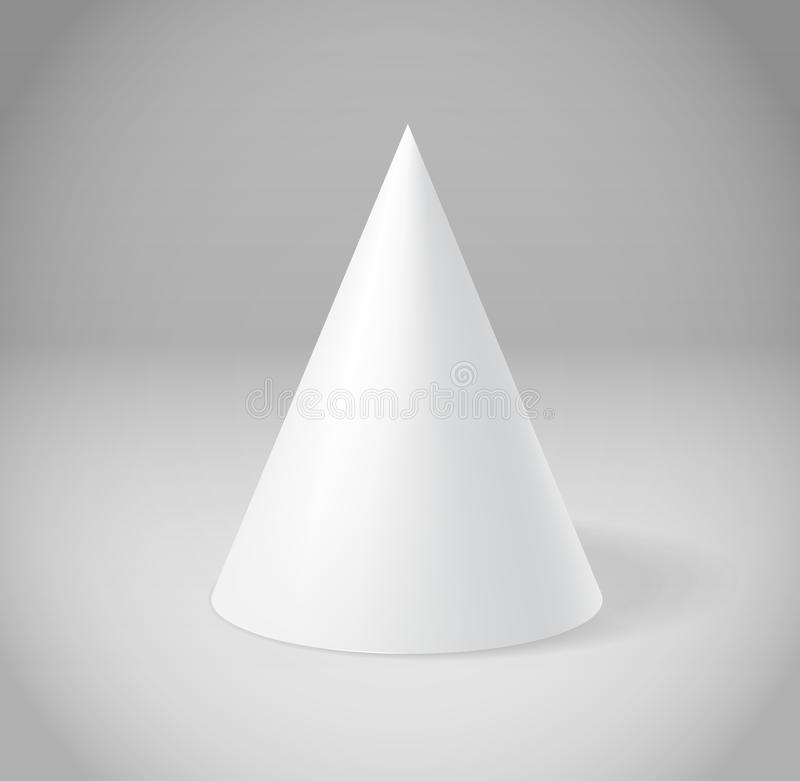 White Cone On Grey Royalty Free Stock Photography