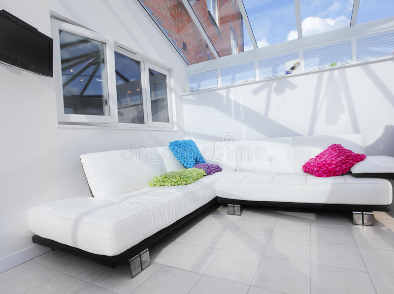 Download White Conservatory Interior Stock Image - Image of house, colorful: 26947957