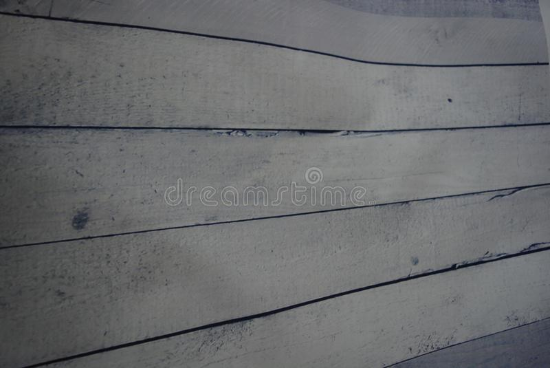 White construction wooden boards with painting and blue tint and paint stock images