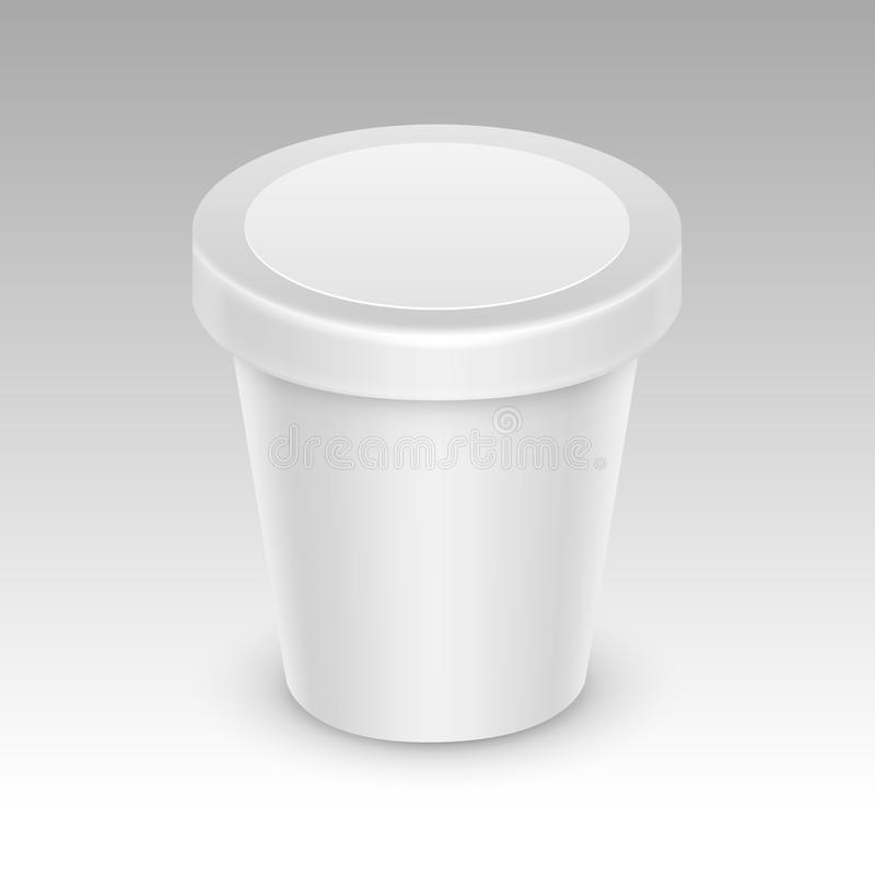 White Container For Ice Cream for Package Design royalty free illustration
